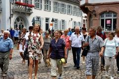 Gästegruppe in der Altstadt